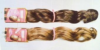 Волнистые волосы на заколках 0191