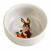 Миска TRIXIE для грызунов керамическая Кролик 300мл 11см