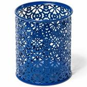 Стакан для канцелярских товаров, металлический, с узорами, цвета ассорти (Alingar)