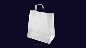 Пакет бумажный с кручеными ручками белый 370*320*200 (80гр/м).755М5699