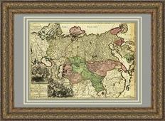 Новая карта всей империи Великой России в багете, 88х68 см