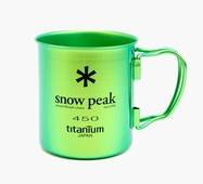 Кружка Snow Peak титановая Ti-Single 450 зеленый 0.45Л