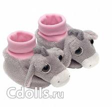Тапочки Suki Li'l Peepers Luna Pink Donkey Booties (Зуки Ослик Луна из Коллекции Гляделки розовый цвет)