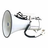 SHOW ER67S - Мегафон 40 Вт, 12 В, выносной микрофон, сирена, вес 2.5 кг, алюминий