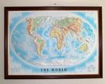 """Рельефная карта """"МИР"""" в деревянной раме, 112*80 см Тестплей"""