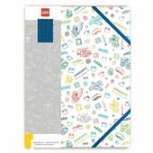 LEGO Книга для записей с синим кубиком 51664 Белая