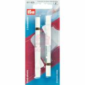Меловые карандаши со стирающей кисточкой бел. 2 шт Prym 611625