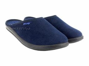 PU-01-01-65 ДрЛуиджи, Домашние ортопедические тапочки, син, текстиль