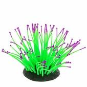 Декорация GLOXY для аквариума 9,5*8,5*9см Морской анемон Зеленый Флуоресцентная