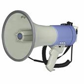 """SHOW ER66S - Мегафон ручной 25 Вт, вынос.микрофон,сирена, 12 В, 8 батарей тип""""С""""вес 1,65 кг, пластик"""