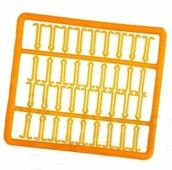 Стопора AXIS для бойлов с длинным фиксатором, оранжевые, в рамке