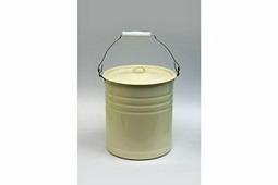 Ведро эмалированное с крышкой без рисунка (объем 12 литров)