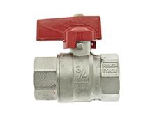 """Thermotech Шаровый клапан 3/4"""", прямой, красная ручка (арт. 75902) для теплого пола"""