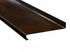 Отлив оконный Bauset алюминий 1мм, 225х6000мм, коричневый