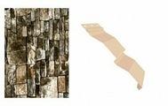 Сайдинг наружный металлический МеталлПрофиль Корабельная доска Белый камень продольный 2м