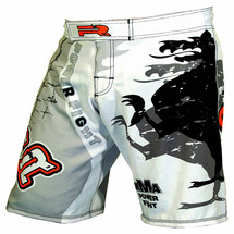 Шорты для мма Roomaif RMF-506 fightshorts белые