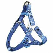 Шлея TRIXIE для собак Premium Harness Woof XS-S 30-40см/15мм голубая