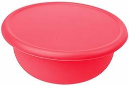 """Миска """"Plast Team"""", цвет: коралловый, с крышкой, 1,2 л"""