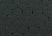 Гибкая битумная черепица RoofShield Готик Family Fl-G-32 Зеленый