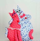 """Игрушка своими руками из текстиля """"Коты-Неразлучники"""", набор для творчества (Перловка)"""