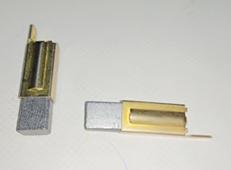 Угольные щетки 2шт. в сборе со вставкой латунной GT-800/900 В120104 (B120103) ECO B120103