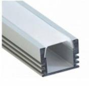 Профиль Smartbuy накладной алюминий + рассеиватель поликарбонат 16x12мм 2 метра +562466 SBL-Al16x12 PAL1612