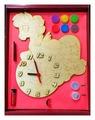 """Часы с циферблатом под роспись """"Пони"""", с красками, набор для творчества (Нескучные игры)"""