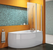 Стеклянная шторка для ванны Kolpa-san Sole TP 104 104 x 140 104 / 140 см