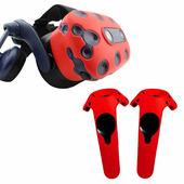 Силиконовые чехлы для очков и контроллеров HTC Vive Pro красные