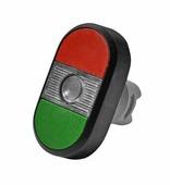 MPD1-11С Кнопка двойная (зеленая/красная) прозрачная линза без текста ABB, 1SFA611130R1108