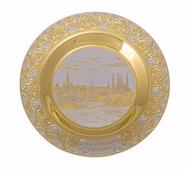 """Тарель """"Казанский Кремль"""" гравюра ( диаметр 190мм.) Златоуст"""