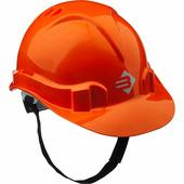 Каска защитная ЗУБР размер 52-62 см, храповый механизм регулировки размера, оранжевый 11094-1