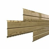Сайдинг наружный металлический МеталлПрофиль Lбрус Сосна 6м (ecosteel)