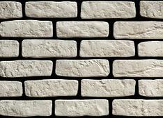 Декоративный искусственный камень РокСтоун Кирпич Венеция гипсовый, 2600 ГП, Белый