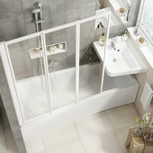 Передняя панель для ванны Ravak BE HAPPY II 150 L белая