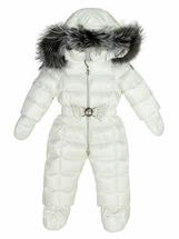 Детский комбинезон для девочки зимний (Белый)
