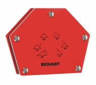 Магнитный держатель Rexant угольник для сварки на 6 углов усилие 22,6 кг {12-4832}