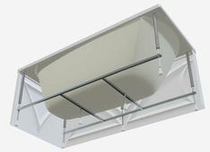 Каркас для ванны 1Marka Modern 165 x 70 165 / 70 см