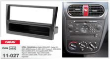 Переходная рамка для установки магнитолы CARAV 11-027 - Opel Agila, Astra, Combo, Corsa (c карманом / Black) 1-DIN
