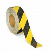 Предупреждающая противоскользящая лента, черно-желтая (100 мм x 18,3 м) {M1WR100183}