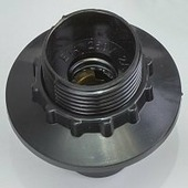 Патрон Navigator карболитовый люстровый с кольцом Е14(е14) резьба - карболит, контакты - латунь 71609 NLH-BL-R-E14