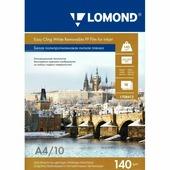 Белая полипропиленовая бесклеевая липкая пленка Lomond для стр. печати А4, 140 г/м2, 220микрон (1708412)