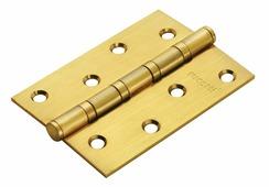 Петля дверная универсальная стальная с 4-мя подшипниками Rucetti RS 100X70X2.5-4BB SG матовое золото