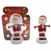 Танцующий Дед Мороз на солнечных батарейках