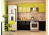 Кухня Дюна зелёная, чёрная 2,1 м.