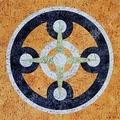 Кварцвиниловая плитка (ламинат) Decoria Пробка DMO 004, Мозаика Круги