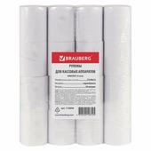 Рулоны для кассовых аппаратов BRAUBERG термобумага 57х30х12 (30 м), комплект 16 шт 110898