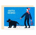 "Открытка ""Happy Holidays. Black Dog"" C6"
