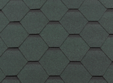 Гибкая битумная черепица RoofShield Стандарт Premium Зеленый с оттенением