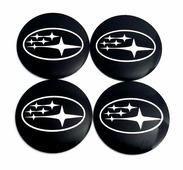 Наклейки на колесные диски Субару, Mashinokom, металл, d 56 mm